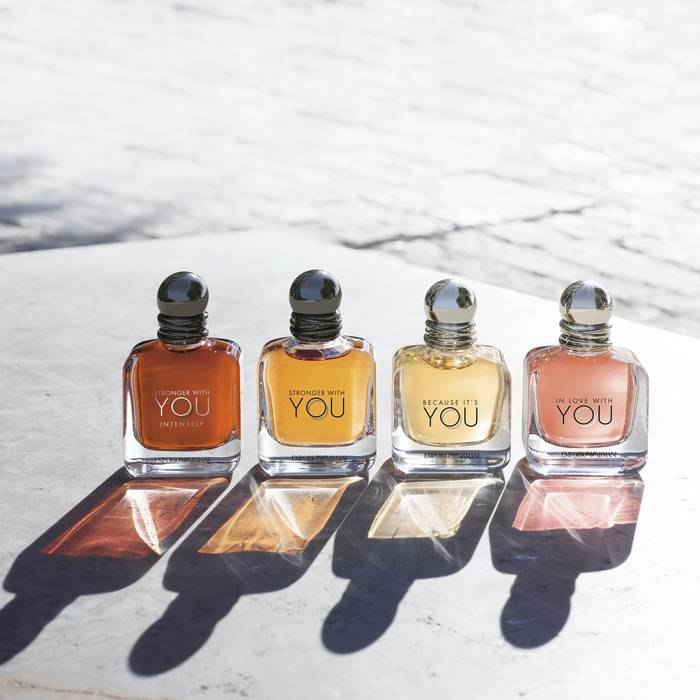 De fyra dofterna i Armani YOU serien